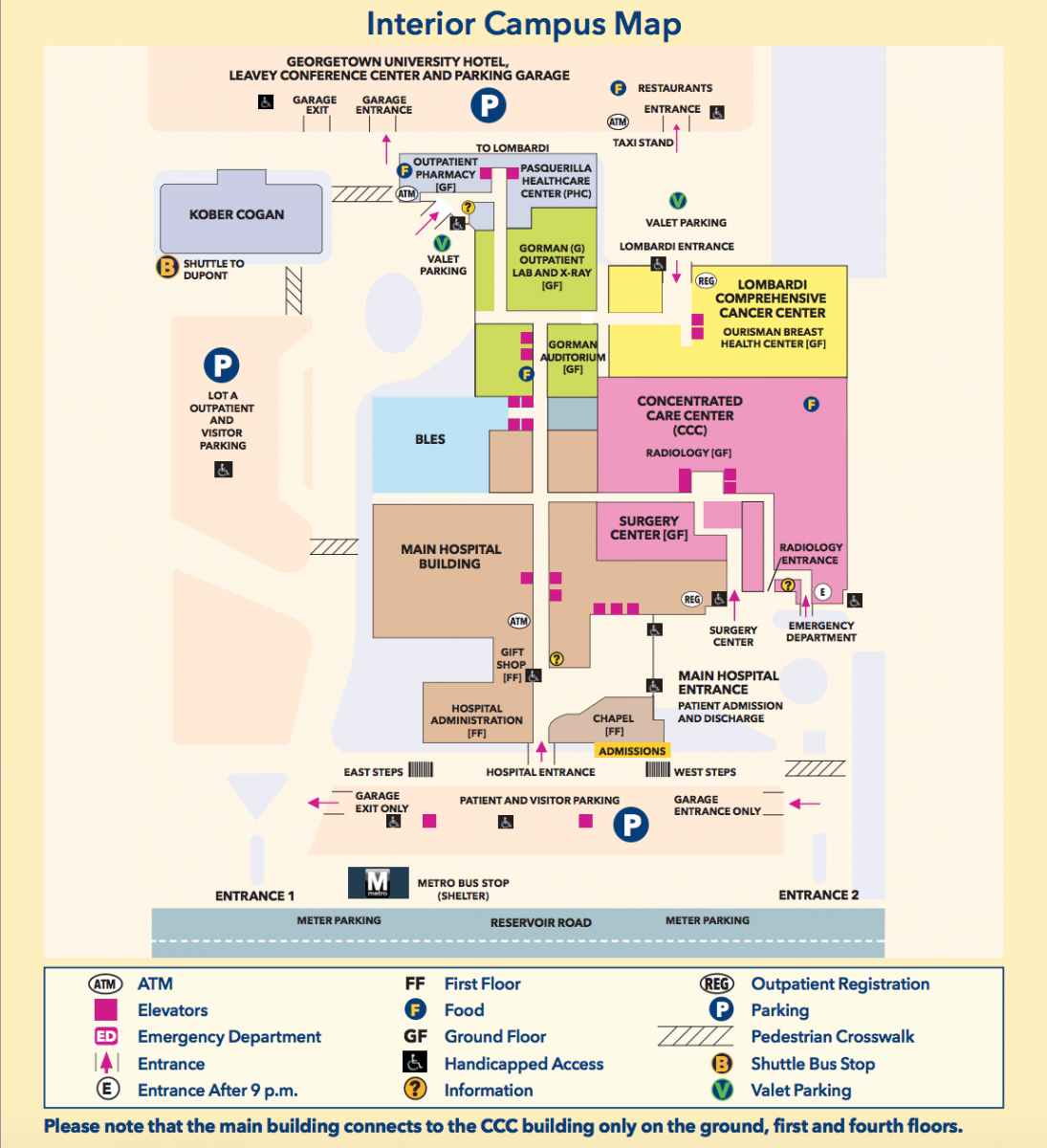 Visual map of Georgetown University Hospital.