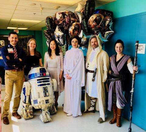 EEG/Epilepsy staff dressed as characters from Star Wars.